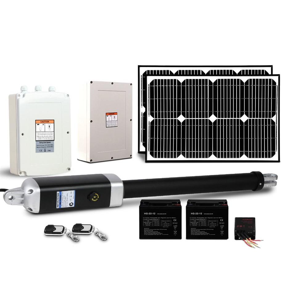LockMaster 40w Swing Gate Opener Auto Solar Power Elec Remote Control 600KG