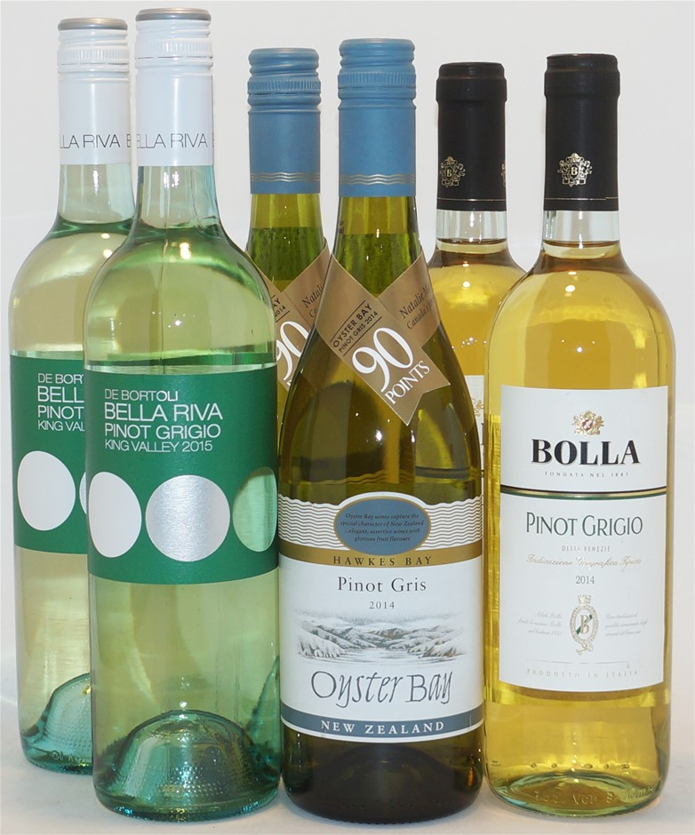 Mixed Pinot Grigio/Gris Pack (6x 750mL)
