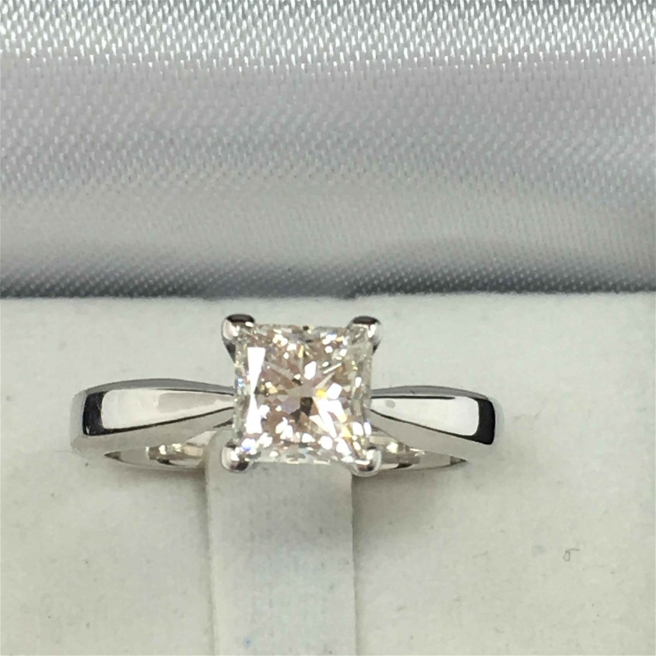 18ct White Gold, 1.01ct ADGL Diamond Engagement Ring