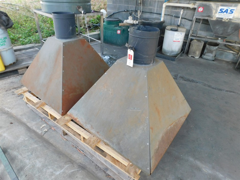 2 x Dust Extraction Hoods