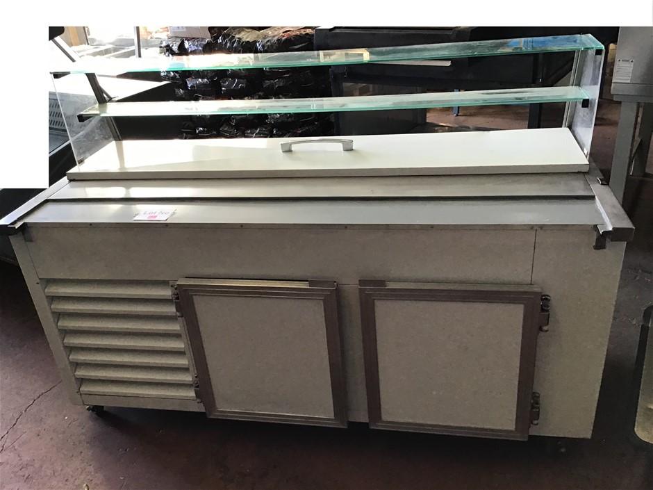 2 Door Sandwich Bar Prep Bench 1800mm x 800mm x 1200mm,