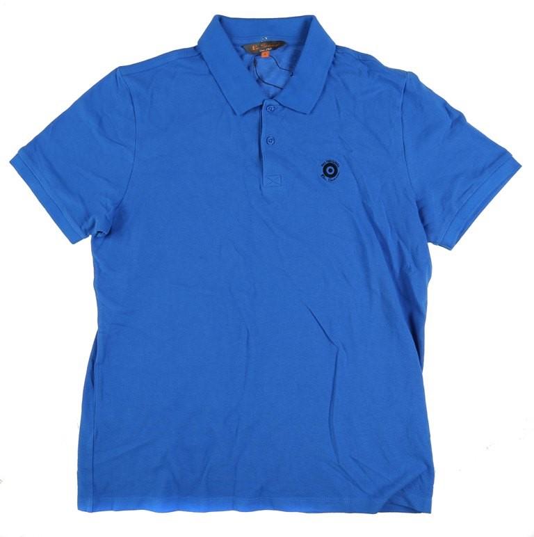 Men`s BEN SHERMAN Basic Polo Shirt w/ Contrast Logo, Size L, Cotton, Navy.
