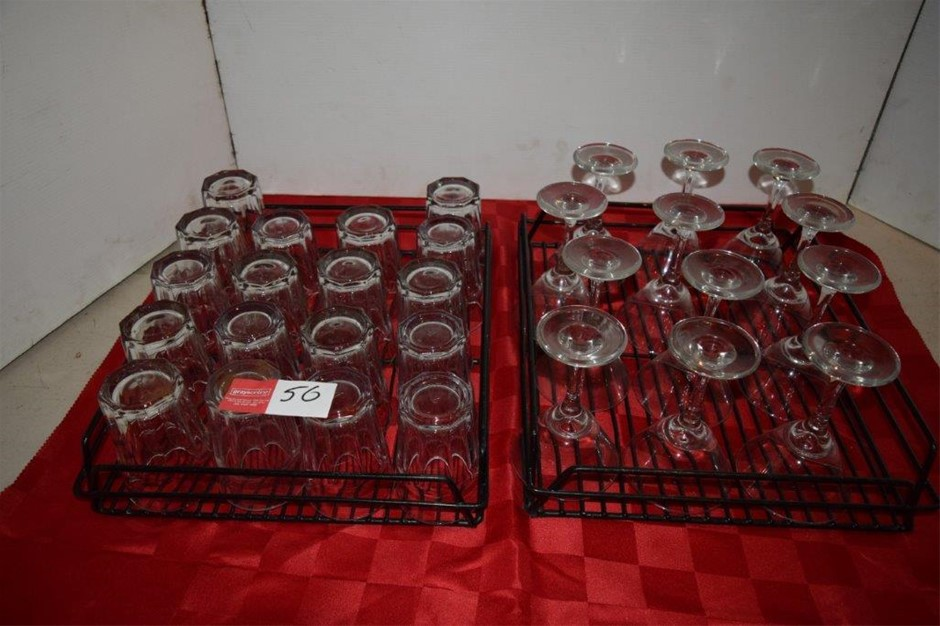 Lot of 30 Pieces of Assorted Beverage Glasses