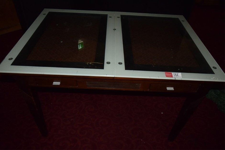 Timber Framed Glass Top Dining Room Table