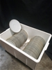 50 x Noritake Saucer- White Fine China with Gold Rim