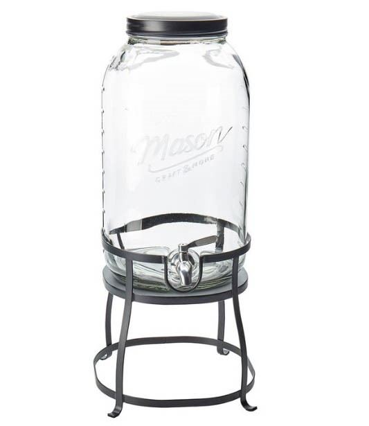 MASON 11L Glass Drink Dispenser with Stand. (SN:CC39827) (266814-281)