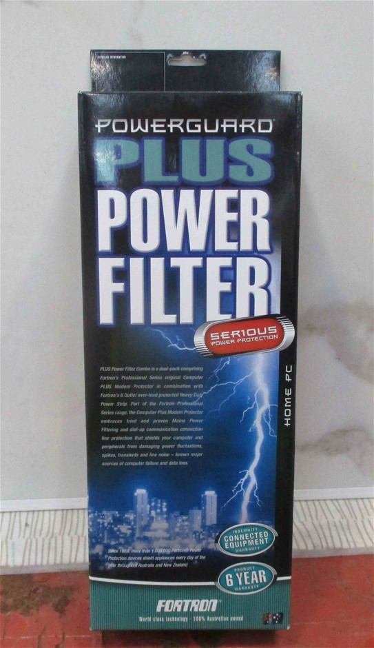 (2 Pack) Fortron Powerguard Plus Power Filter 6 Outlets (Home PC)