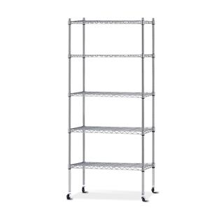 90cm 5 Tier Metal Wire Rack Shelving Uni