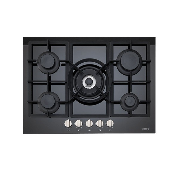 Euro 70cm Gas on Ceramic Cooktop, ES700GFDBL