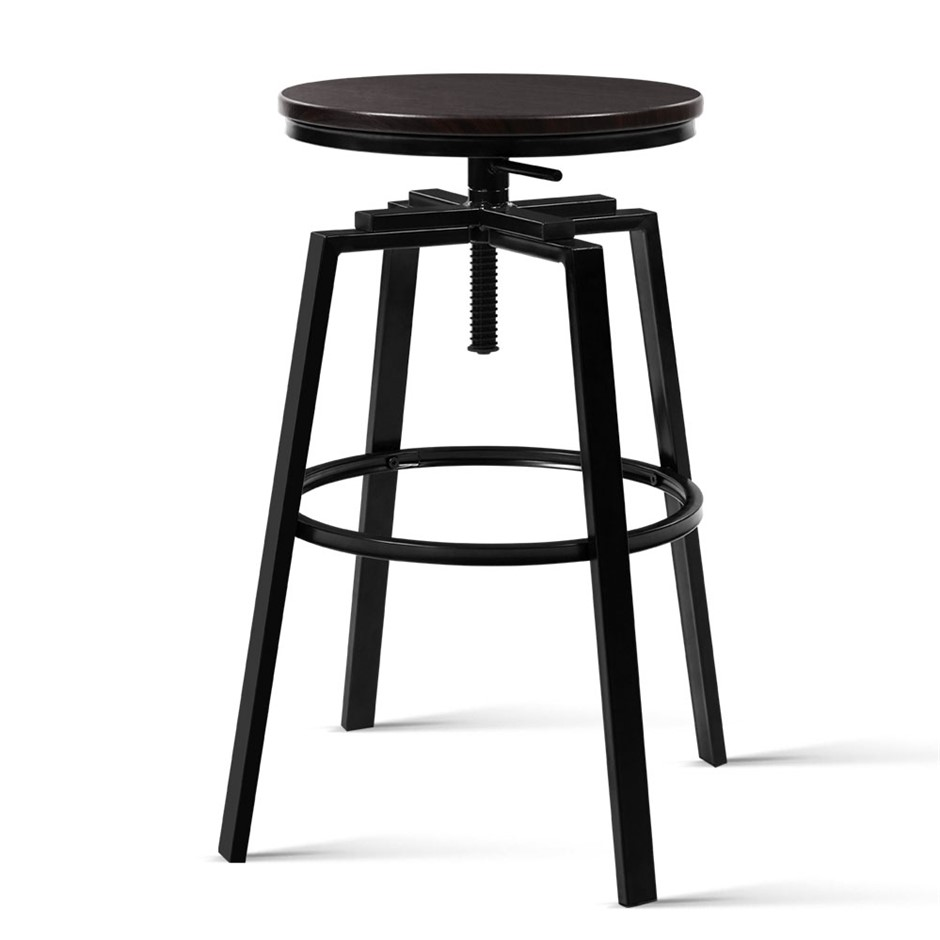 Artiss 2 x Vintage Bar Stools Retro Kitchen Swivel Industrial Rustic