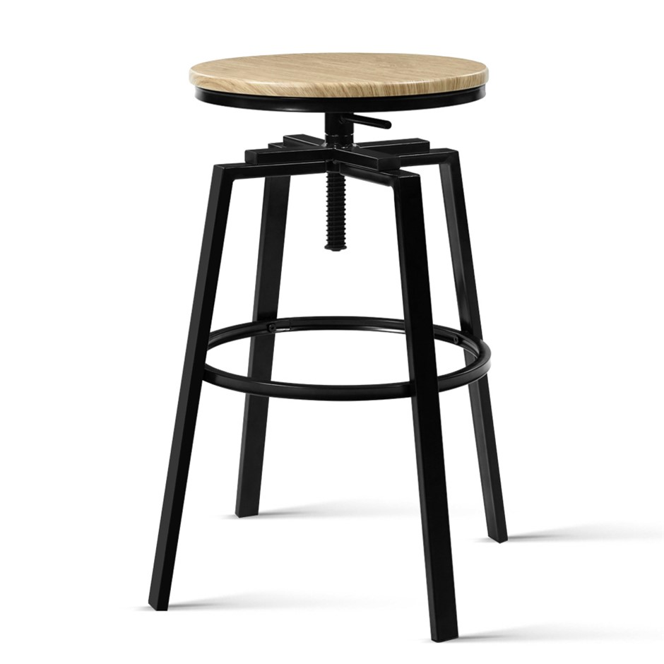 Artiss 2 x Vintage Kitchen Bar Stools Retro Swivel Industrial Rustic