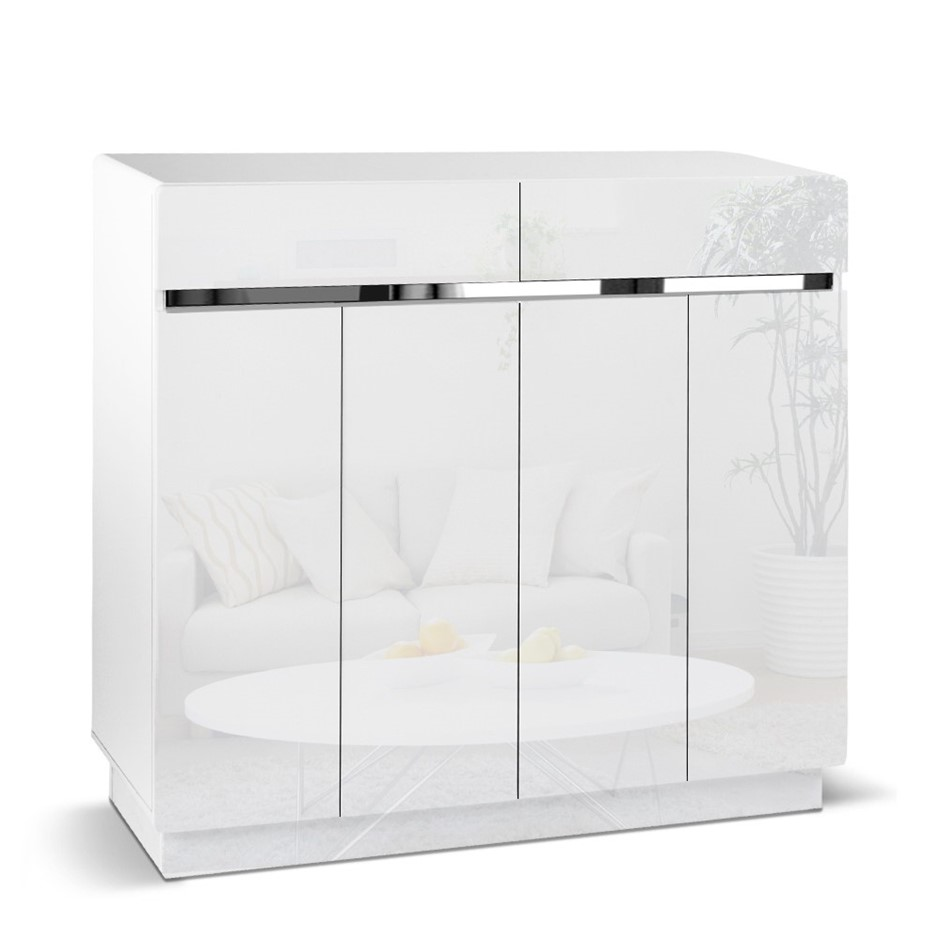 Artiss High Gloss Shoe Cabinet Storage Rack Organisers Cupboard Drawers