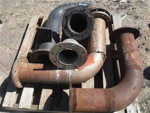 Pallet of 150mm Pipework for Pumps