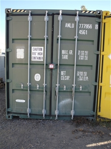 40' Highcube Container Including Heavy D