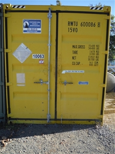 10' Highcube Bunded Chemical Container