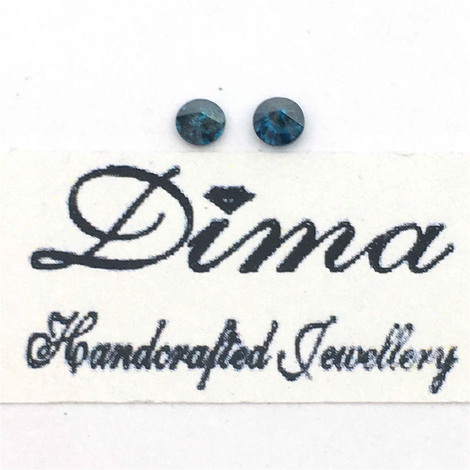 Two Stones Blue Diamond 0.17ct in Total