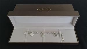 Gucci Sterling Silver Three Charm Bracel