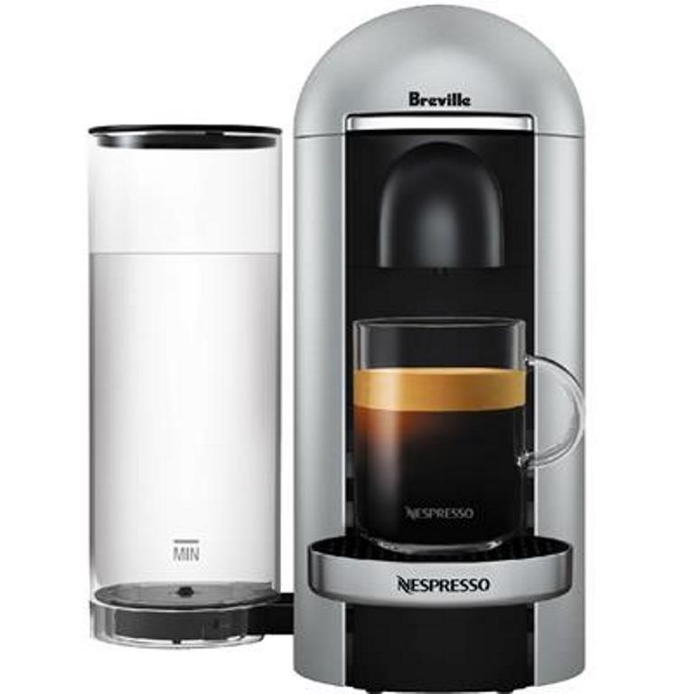 BREVILLE NESPRESSO Vertuo Plus Coffee Machine, Silver. (SN:CC41087) (266643