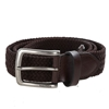 NAUTICA Men`s Handcrafted Woven Stretch Belt, Size 40- 42, Brown, Elastic R