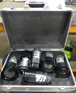 6 x NEC projector lens in silver case