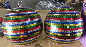 2 x Multi-colour Disco ball approx 35cm
