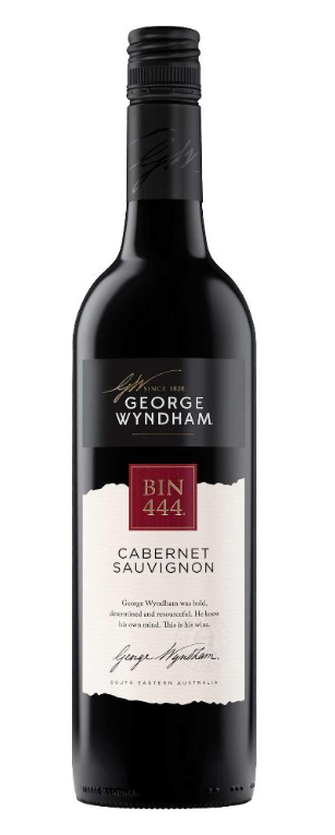 George Wyndham `Bin 444` Cabernet Sauvignon 2018 (6 x 750mL), SE, AUS.