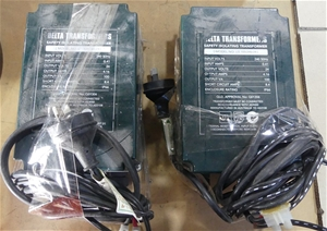 2 x Delta safety isolating transformers,