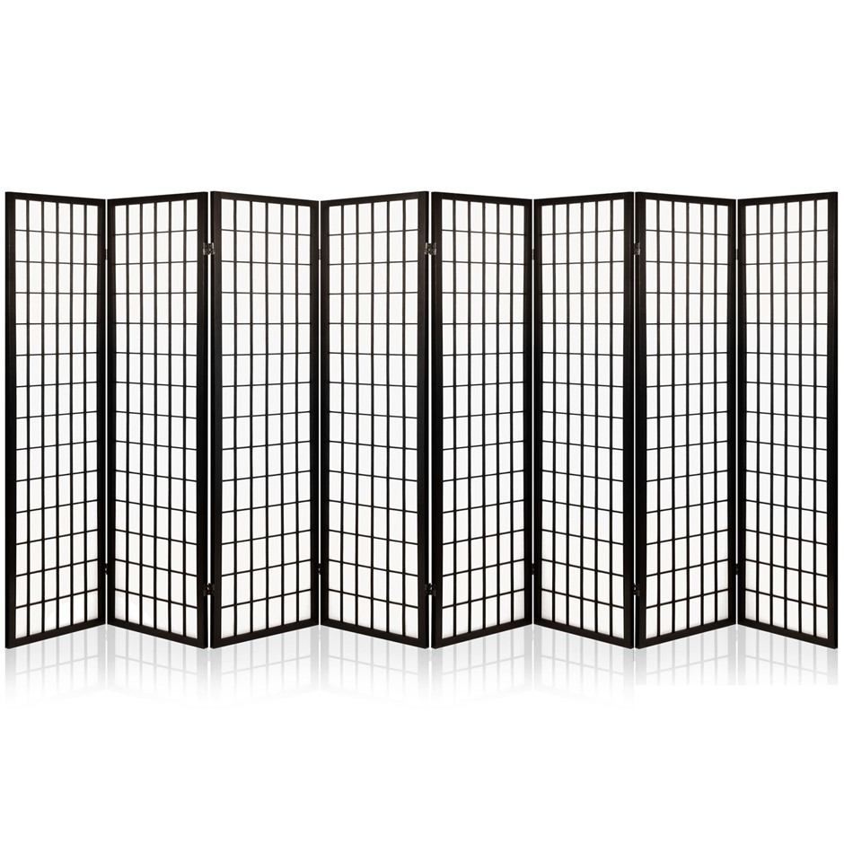 Artiss 8 Panel Room Divider Privacy Screen Stand Oriental Vintage Black