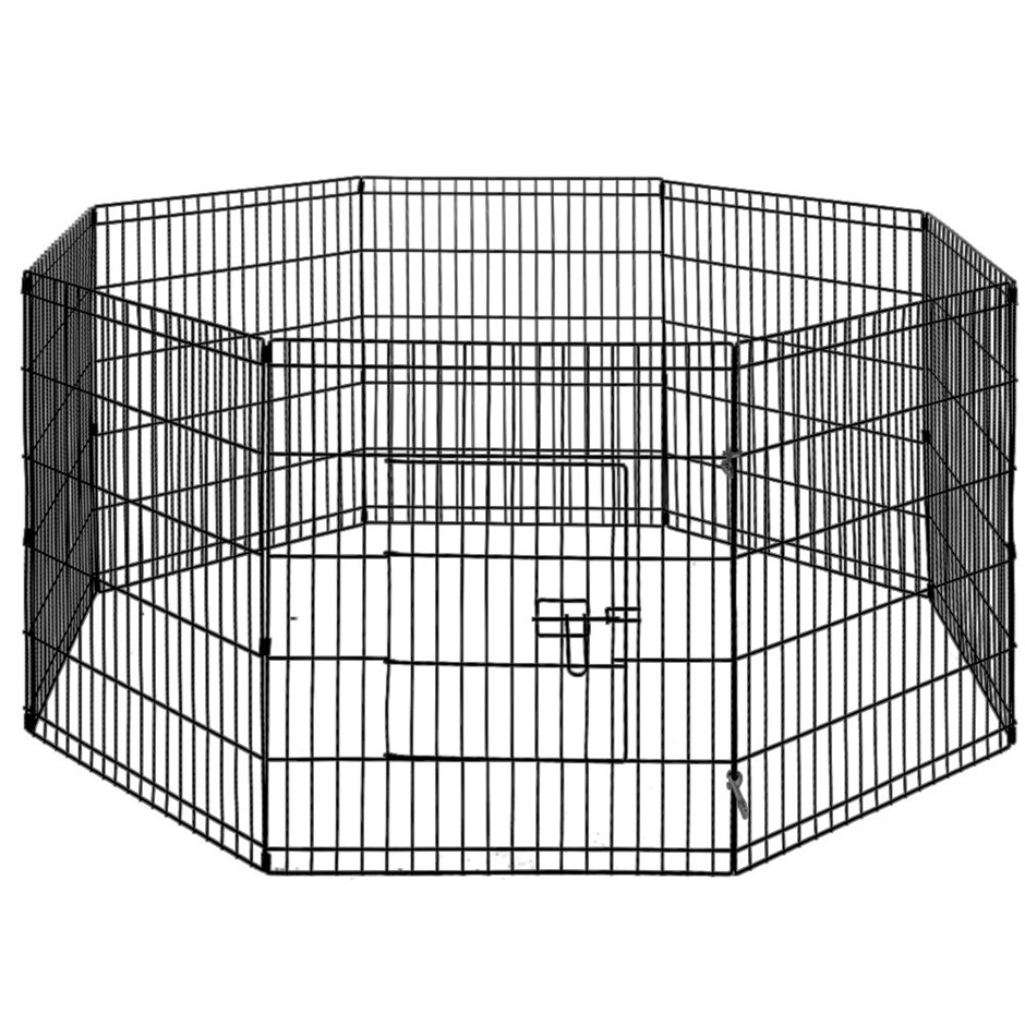 "i.Pet 30"" 8 Panel Pet Dog Playpen Puppy Exercise Cage Enclosure Fence 2pcs"