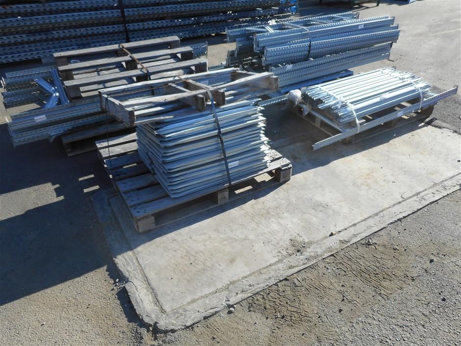 Bulk Lot Of Assorted Aluminium/ Metal Shelving System