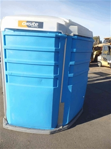 1x Round Poly Disabled Toilet