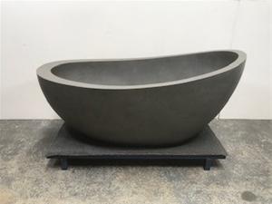 Grey Freestanding Bath, 1500 x 830mm