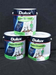 Qty 3 x Dulux 4L Super Enamel Semi Gloss