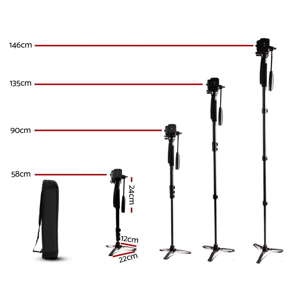 Weifeng Camera Tripod - Black