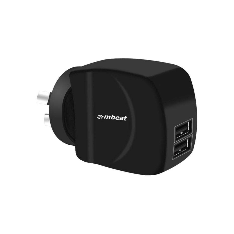 "mbeat MB-CHGR-DP2 ""GorillaPower Duo"" 3.4A Dual USB ports smart charger"