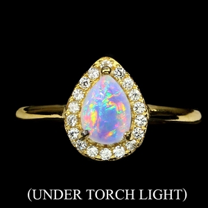 Spectacular Genuine Fire rainbow Opal Ri