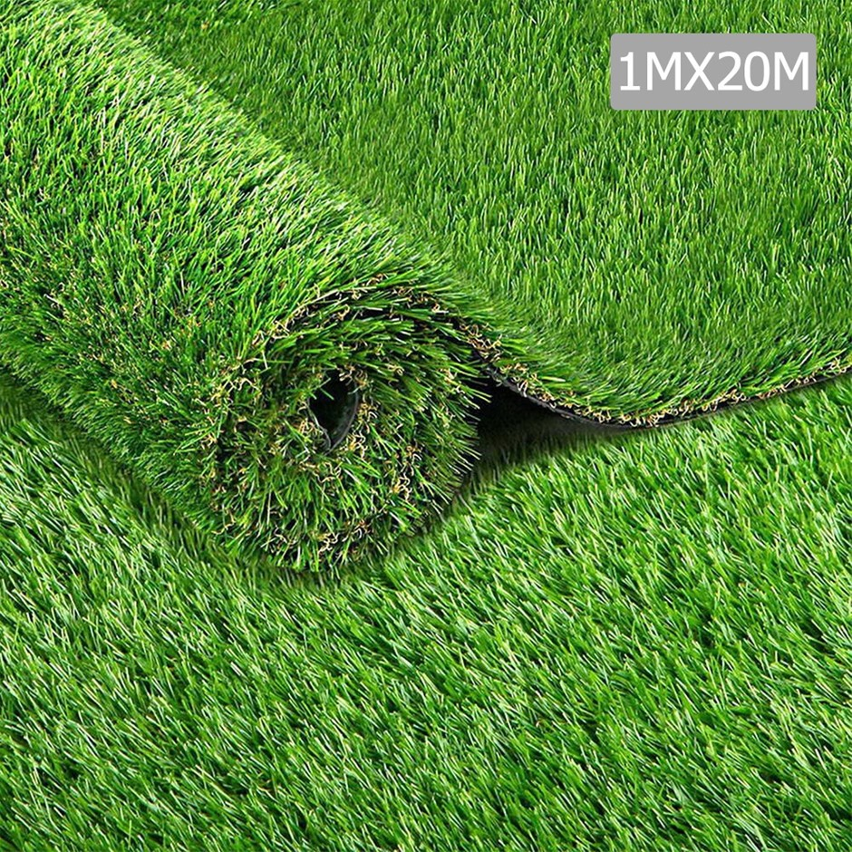 Primeturf 1m x 20m 20SQM Synthetic Turf Artificial Grass Plastic Lawn 30mm