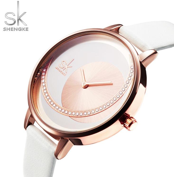 SK Women Fashion & Luxury Watch Miyota movement Leather Bracelet Band