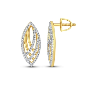 9ct Yellow Gold, 0.21ct Diaomond Earring
