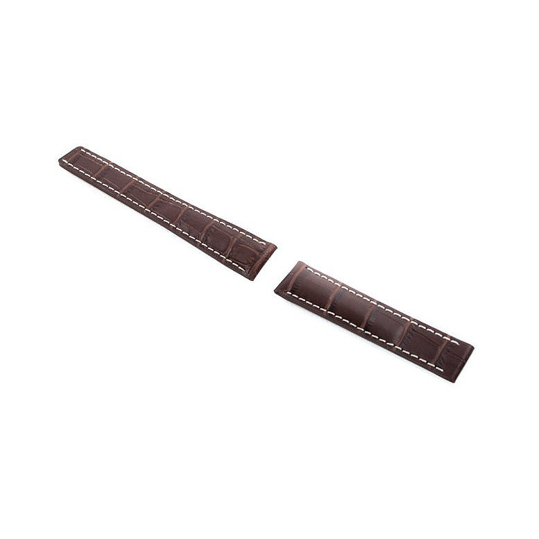 Leather Croc Band Brown Strap 20/18 Fits Breitling Watch & others