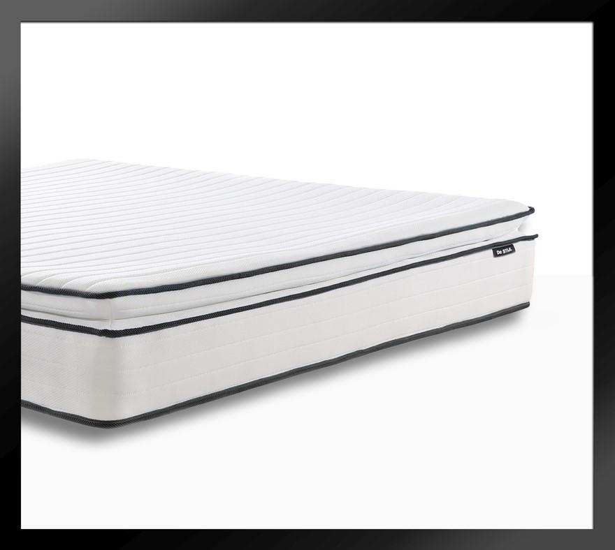 Apollo Black - Pillow Top Mattress with Two Thousand mini springs*, Queen