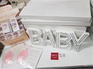7 x Crystal Baby Signs, Baby's Prayer Bo