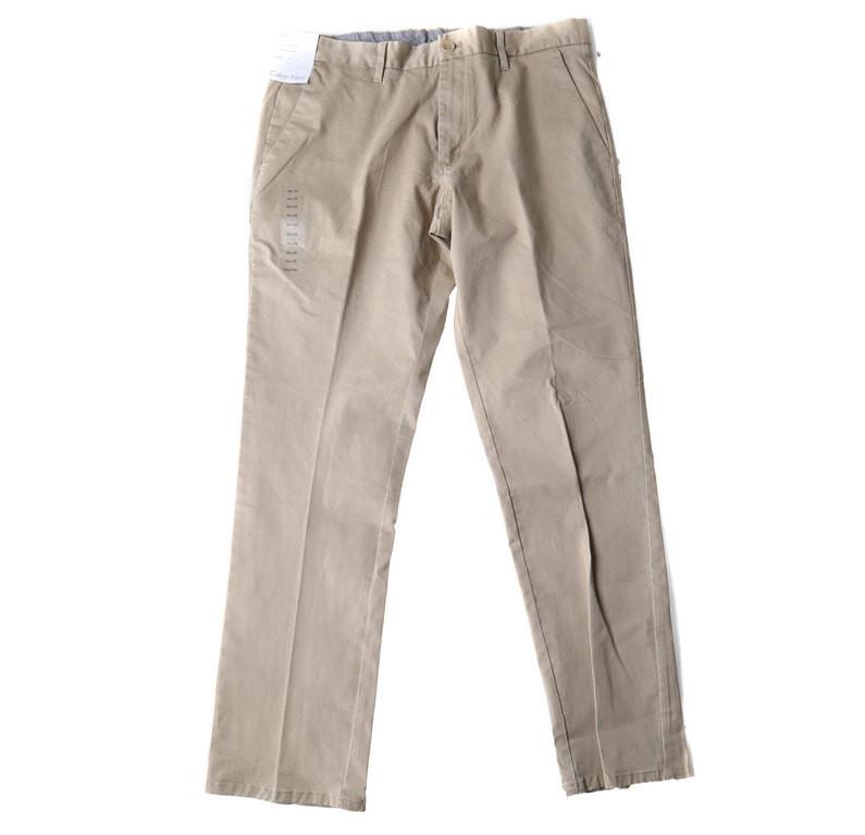 Men`s CALVIN KLEIN Stretch Trouser, Size 36x32, 98% Cotton, 2% Elastane, Be