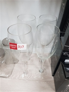 4 x Large Champagne Flutes