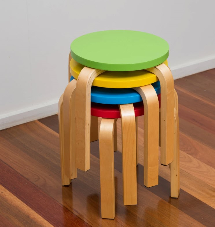 Bunyip Kids Colourful Stools Set of 4