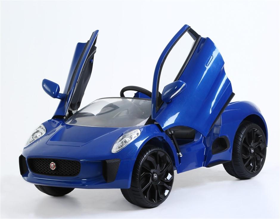 Jaguar Electric Ride On Car - 6V - Blue
