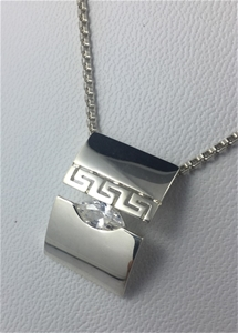 SOLID STERLING SILVER 925 - WHITE CUBIC