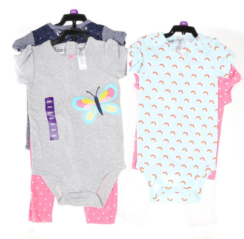 2 Sets x Assorted Girl`s Clothing Set, Size 24M, incl; CARTER`S Rainbow 2PC