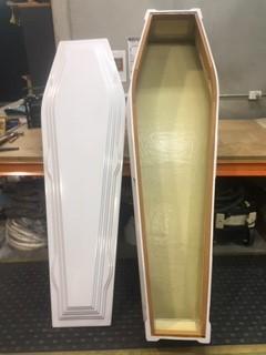 White Fibreglass Coffins