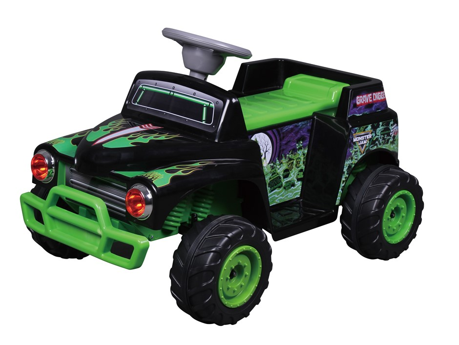 Monster Jam Grave Digger Electric Ride On Car - 6V
